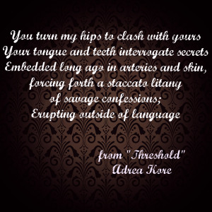 Adrea Kore Threshold erotic poetry
