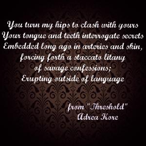 Adrea Kore Threshold erotic poetry