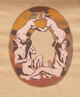 Erotic Soviet, Alphabet 1931, Merkurov