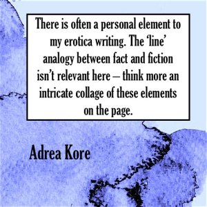 Adrea Kore erotic fiction fantasy quote emmanuelle de maupassant