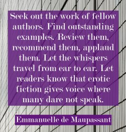 emmanuelle de maupassant erotic fiction author quote
