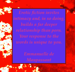 emmanuelle de maupassant quote porn versus erotic fiction
