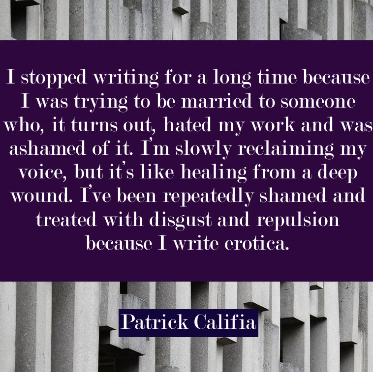 patrick califia author quote erotic fiction