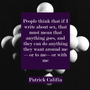 Patrick Califia quote author erotic fiction