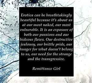 Remittance Girl quote on Erotica Erotic Fiction Transgressive