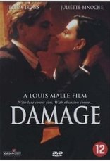 1992 film Damage Jeremy Irons Juliette Binoche Josephine Hart a review of the book Emmanuelle de Maupassant
