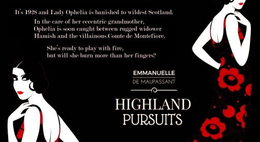 blurb promo Emmanuelle de Maupassant Highland Pursuits quote copy 3