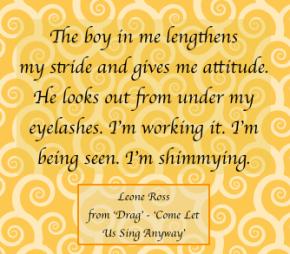 Leone Ross Drag quote