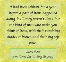 Leone Ross - lions quote