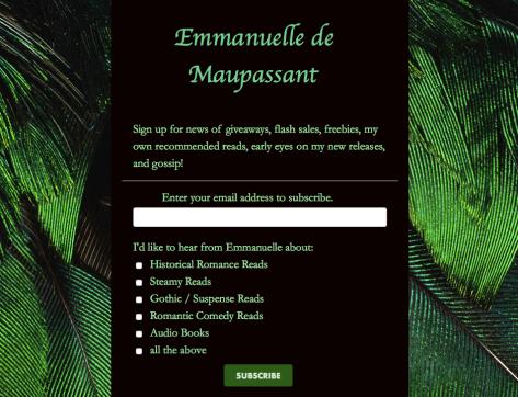 Emmanuelle de Maupassant newsletter